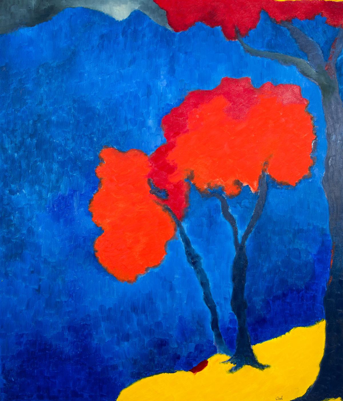 Maryse Casol, painting Ceci N'est Pas Un Arbre V, 2011