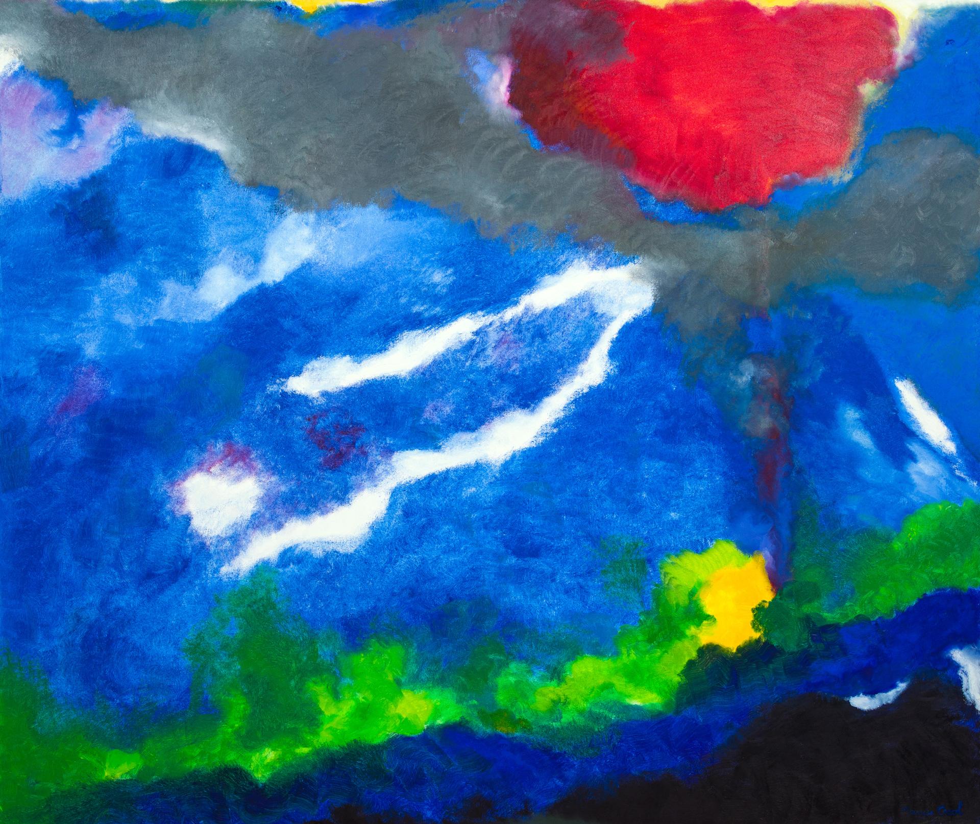Maryse Casol, peinture Ceci N'est Pas Un Arbre IX, 2014
