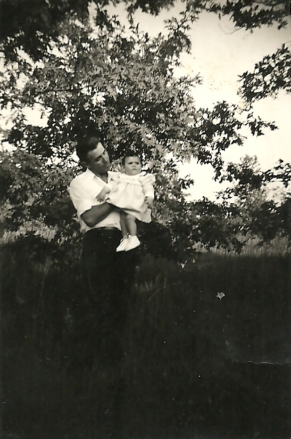 Mario Casol et sa fille Maryse, France, 1958