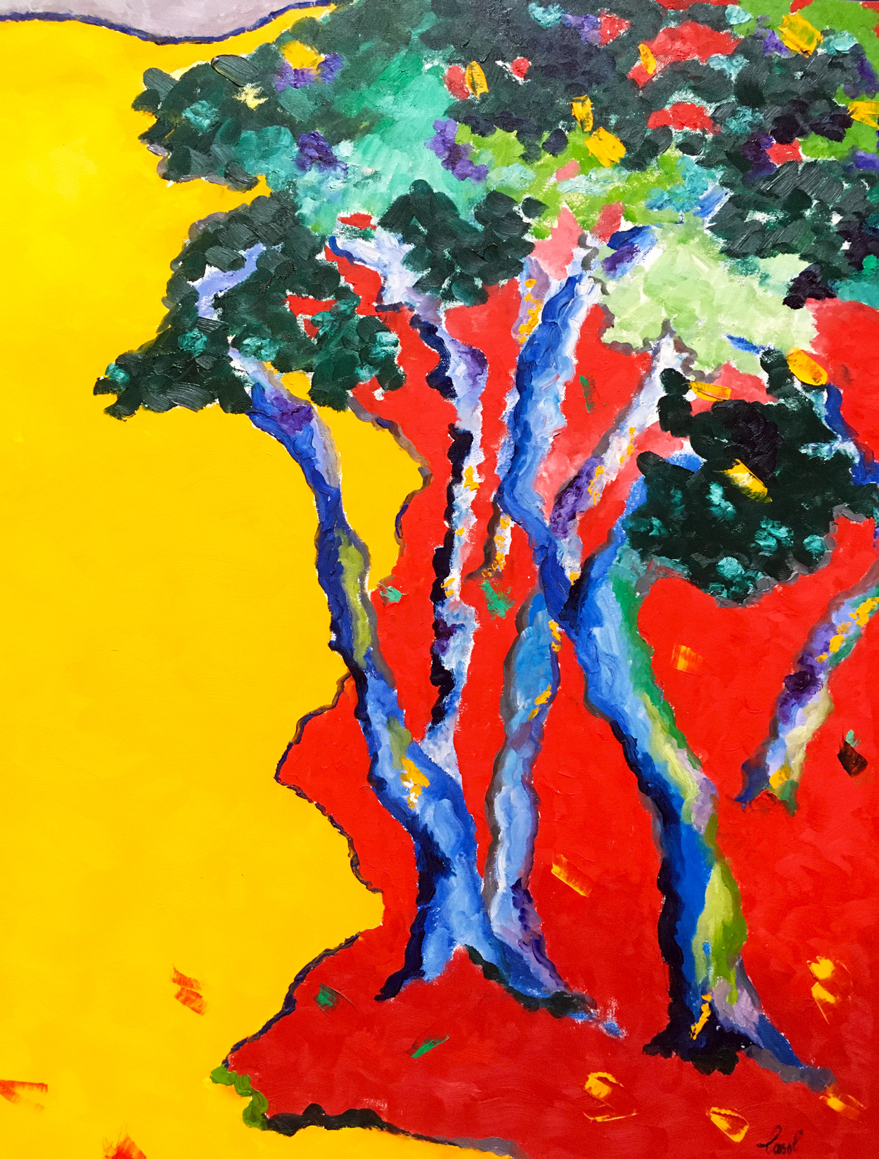 Maryse Casol, Arbre Symbolique painting, 2003