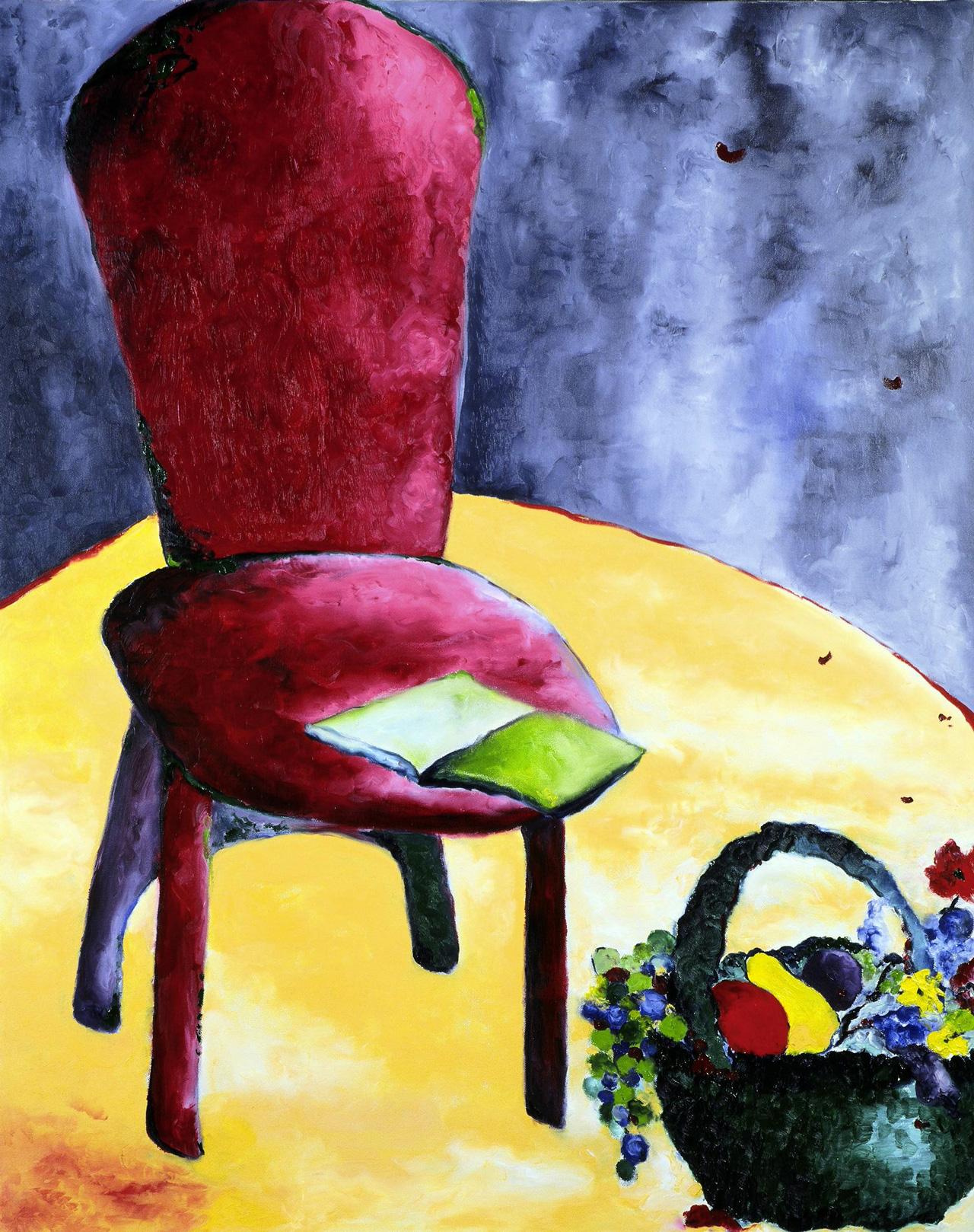 Maryse Casol, Réflexion Ontologique painting, 2004