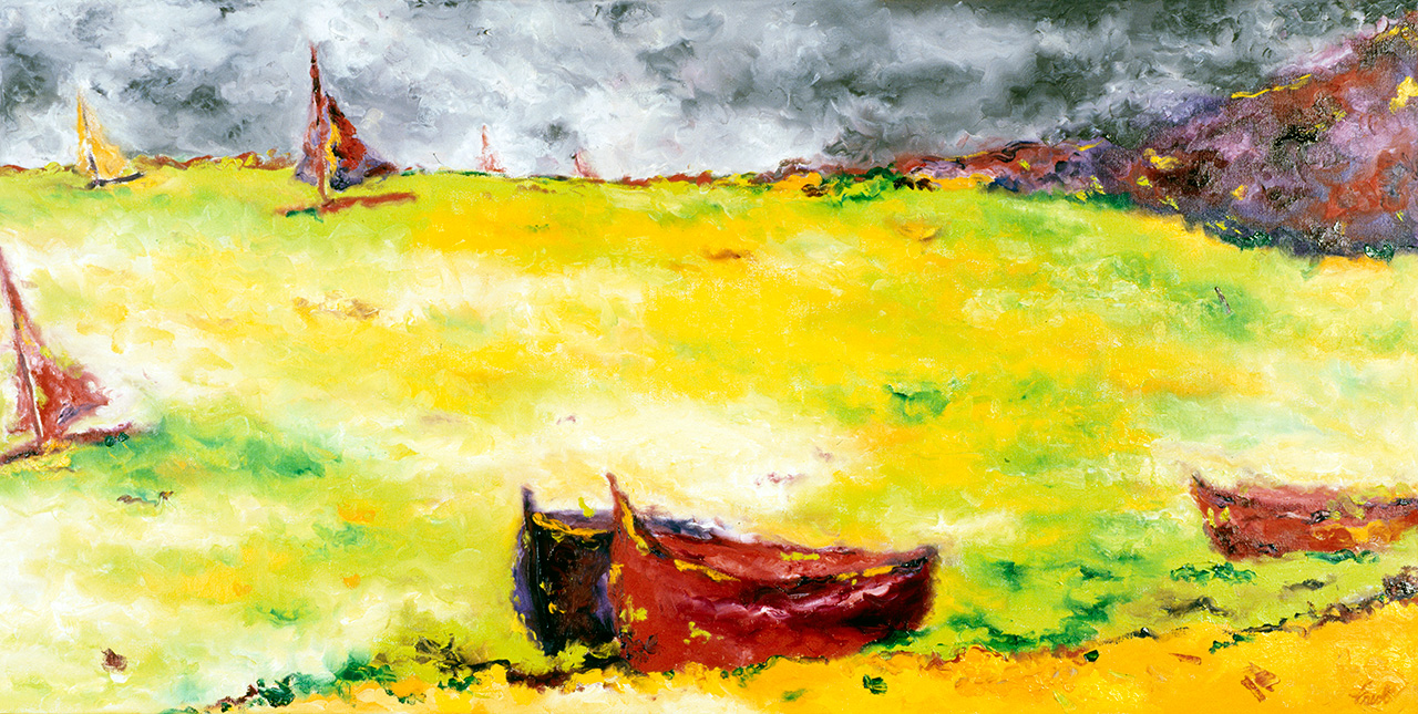 Maryse Casol, painting Tempête en Pays Catalan, 2004