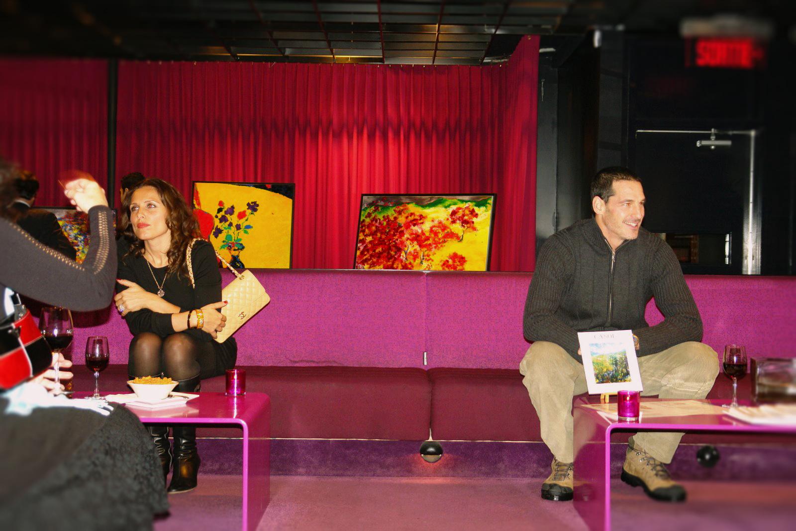 Maryse Casol Art Exhibition 2007, Cerisiers en Fleurs painting, Buonanotte, Montreal, Canada