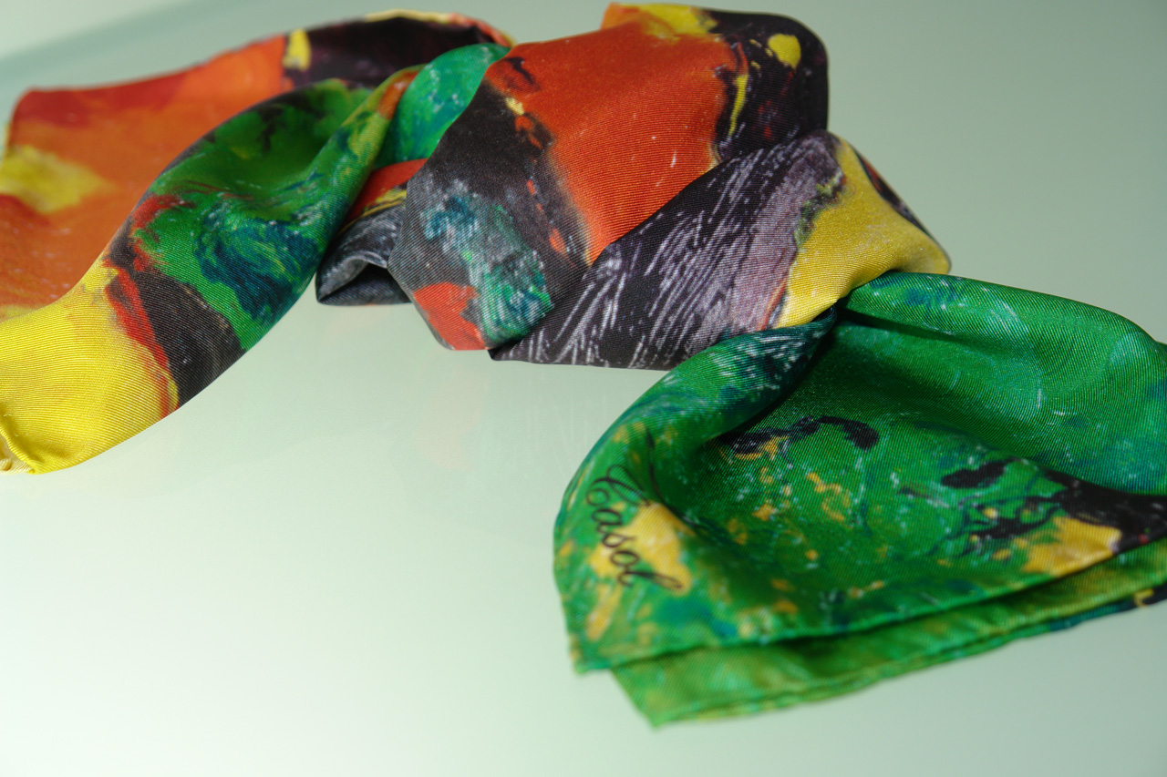Maryse Casol square silk scarf