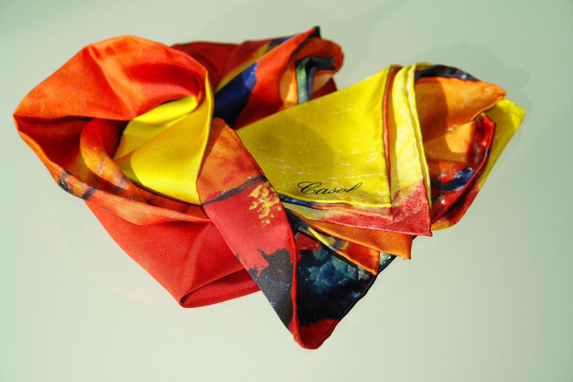 Maryse Casol silk scarf Hiver a Paris