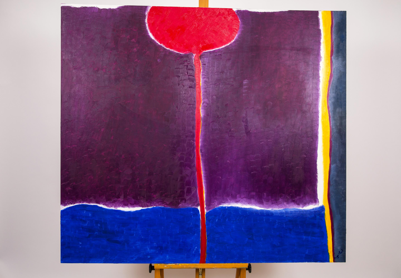 Maryse Casol painting Corolle de Lumière, 2012