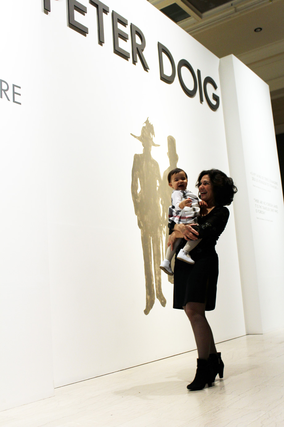 Maryse and Valentina Casol, Peter Doig, Montreal Museum of Fine Arts, April 2014
