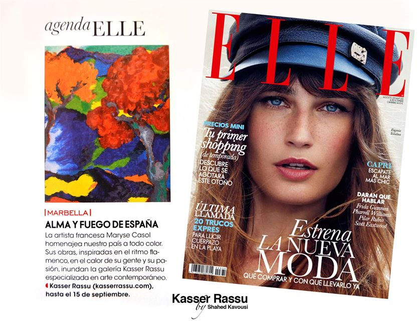 Maryse Casol is featured in Elle España, August, 2014