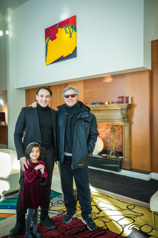 Mickael Casol, Antonio Diverdis & Valentina Casol at the Maryse Casol art exhibition, Sofitel Montreal, Sunday January 14, 2018