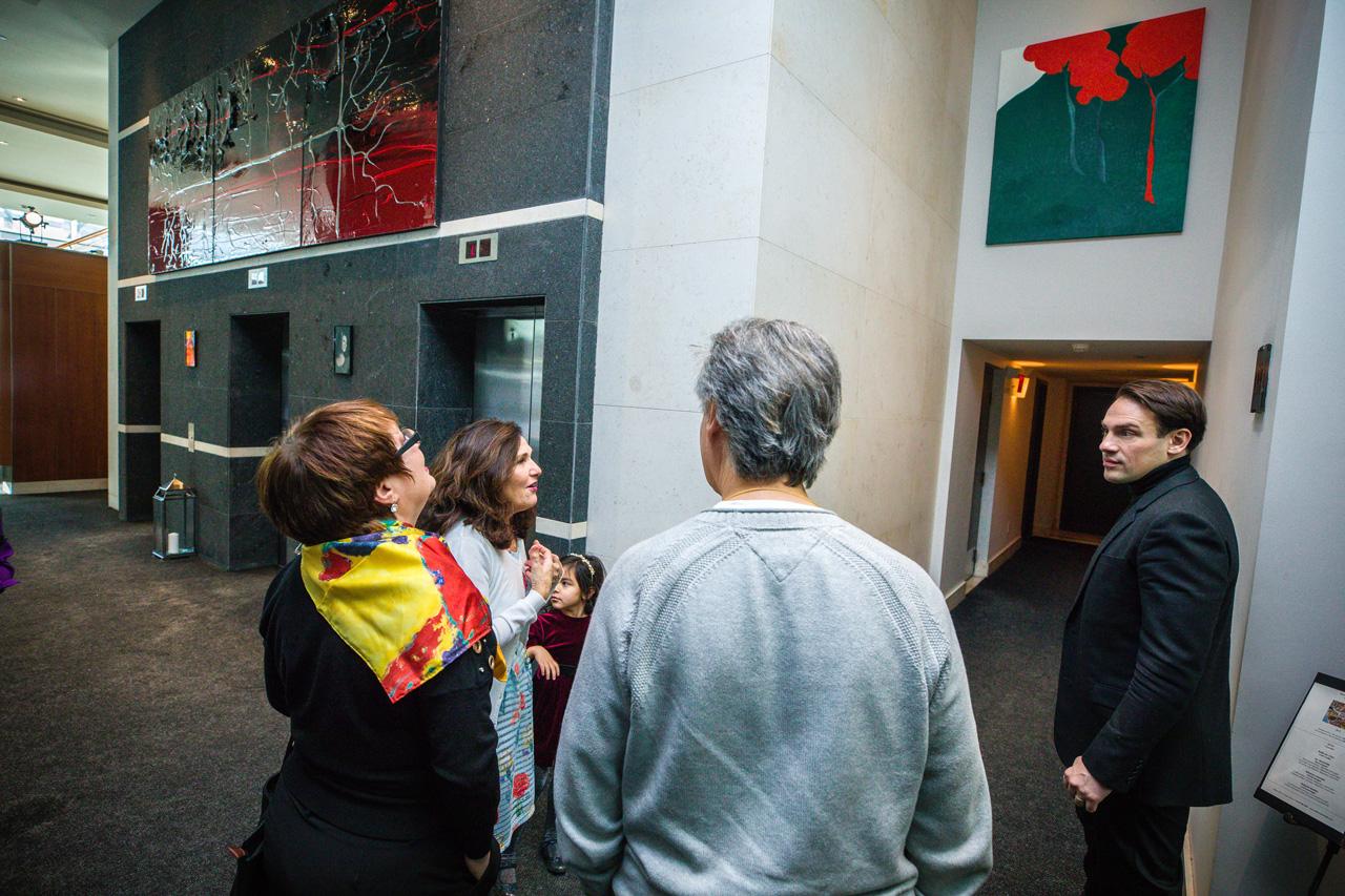 Maryse Casol art exhibition, Sofitel Montreal, Sunday January 14, 2018