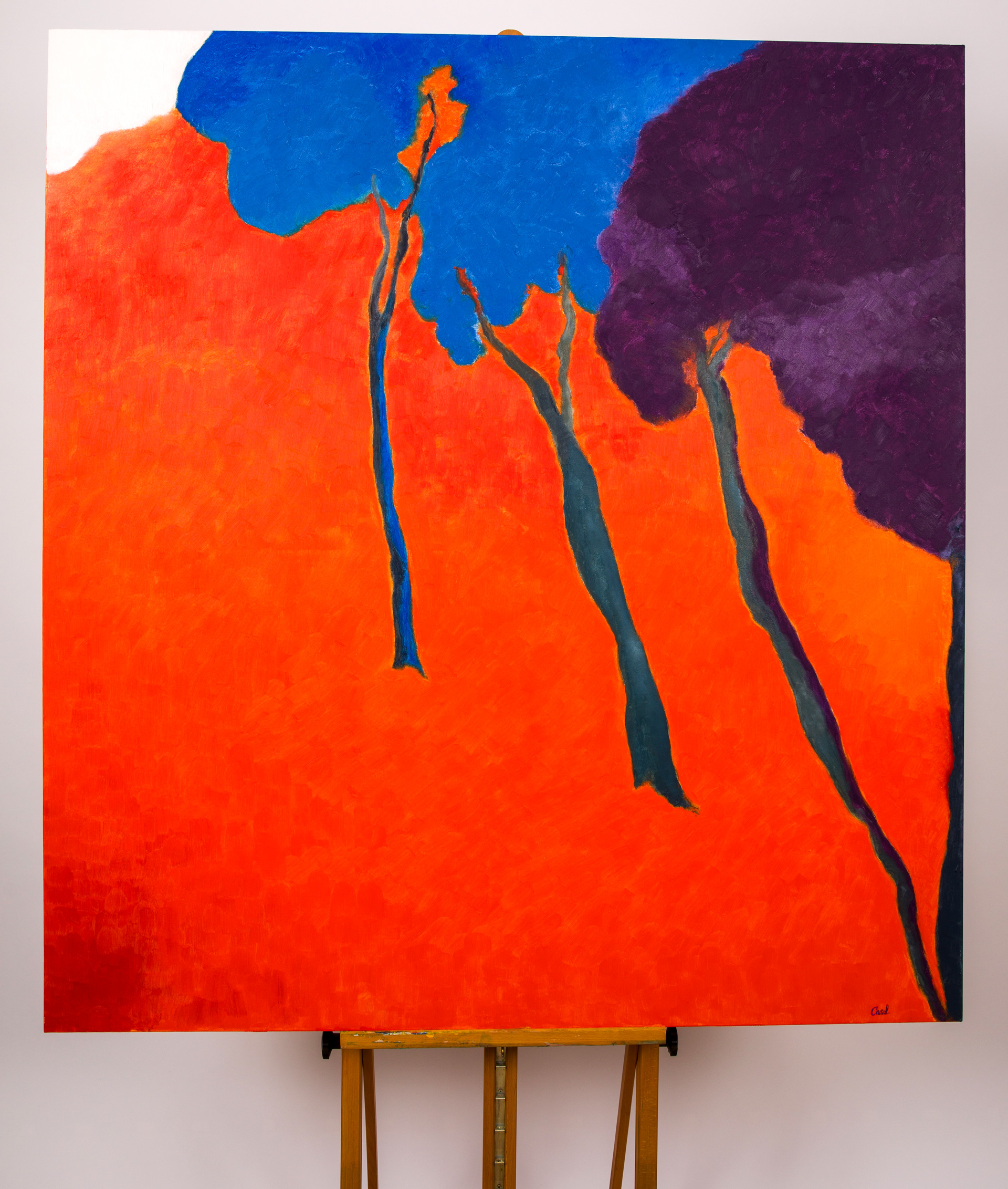 Maryse Casol, peinture Ceci N'est Pas Un Arbre VI, 2011