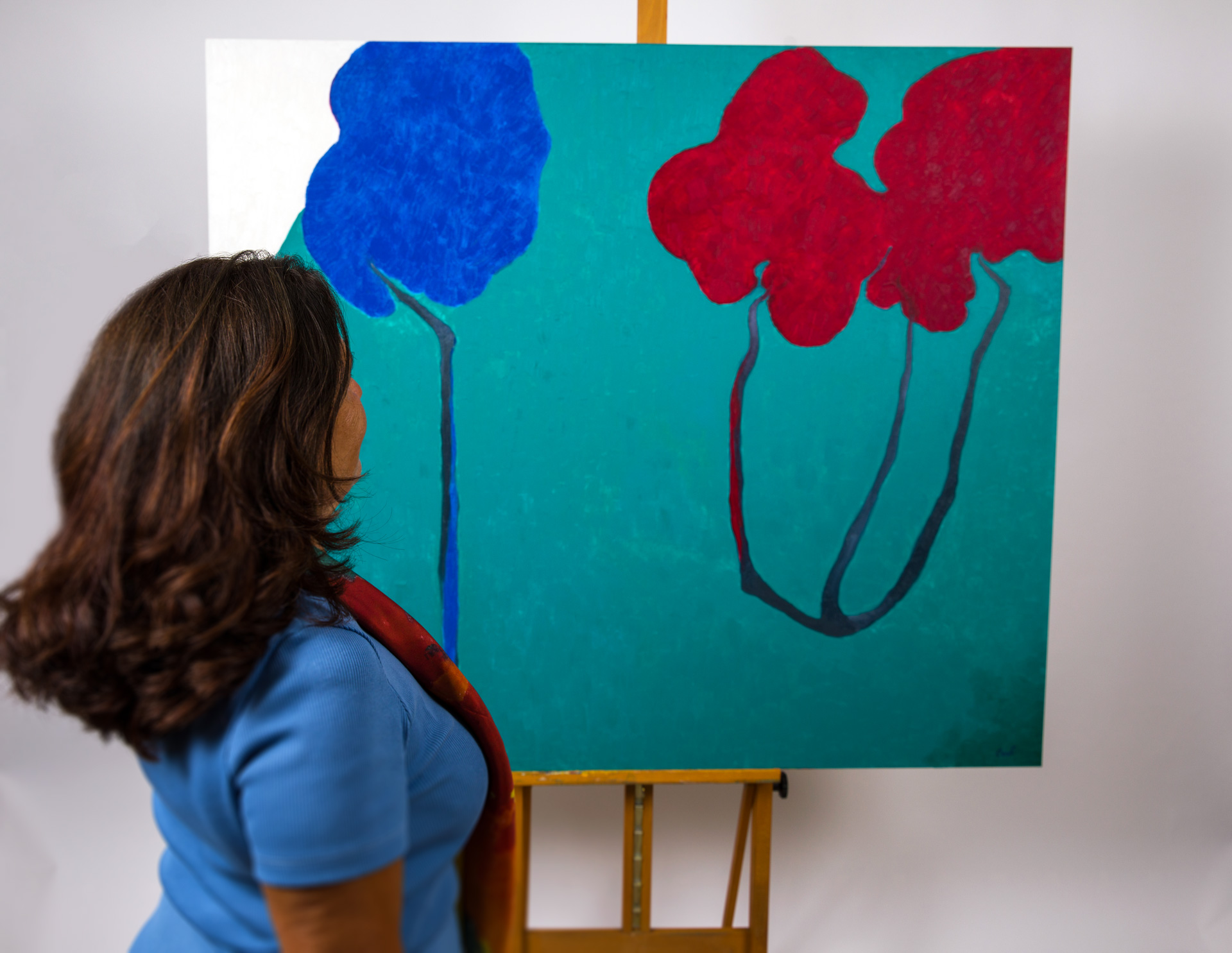Maryse Casol, peinture Ceci N'est Pas Un Arbre VIII, 2011