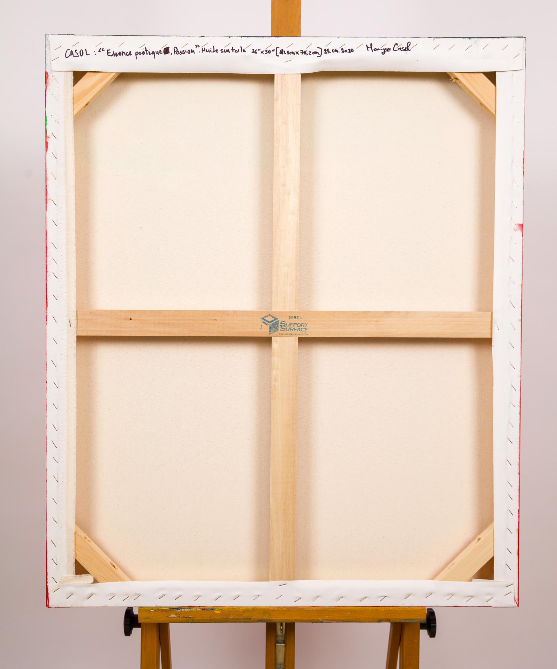 Maryse Casol, peinture Essence Poétique, Passion, 2020, arrière