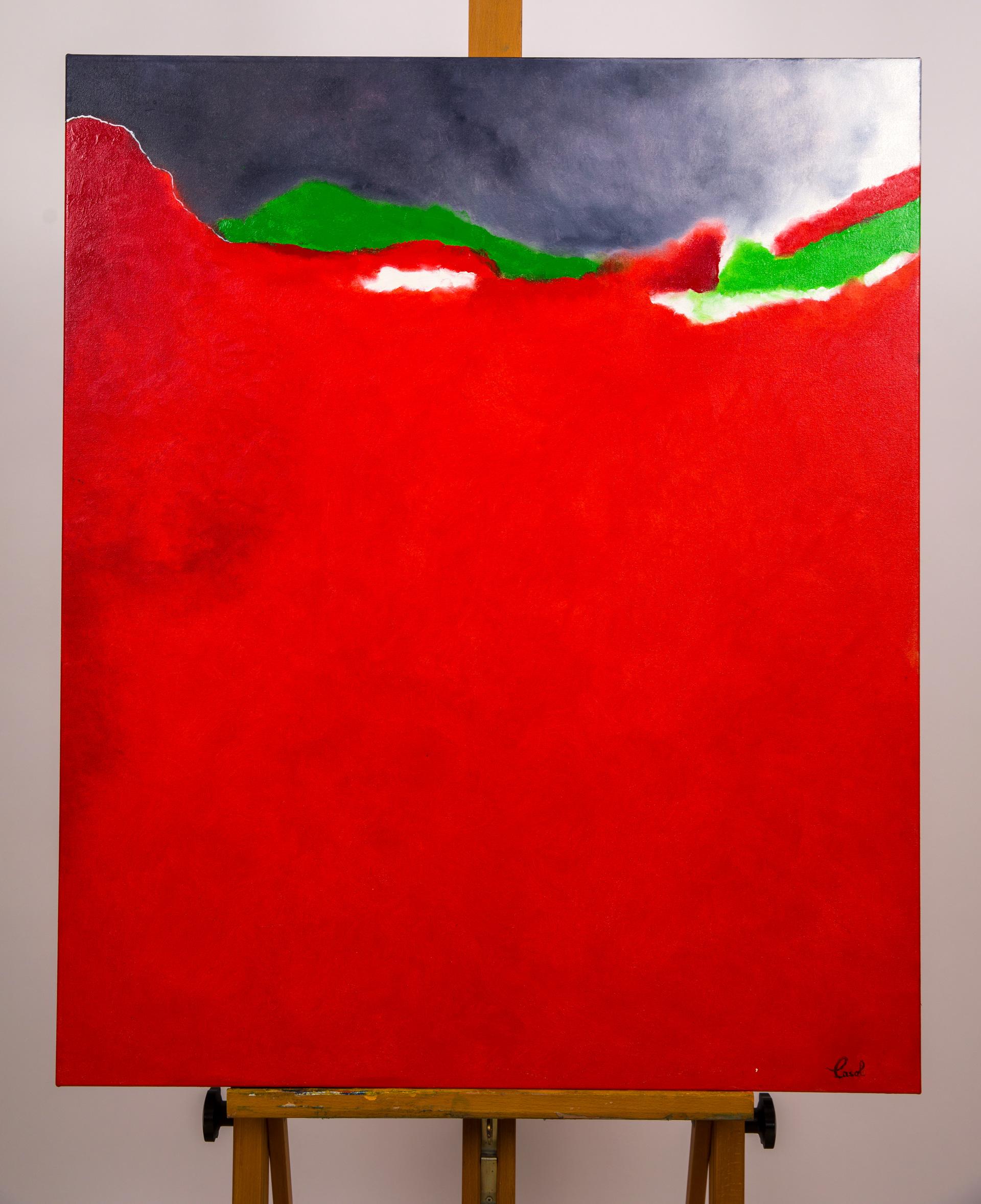 Maryse Casol, peinture Essence Poétique, Passion, 2020