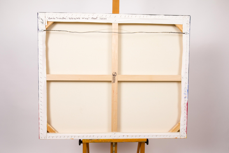 Maryse Casol peinture Lumière Tourmaline arrière, 2016