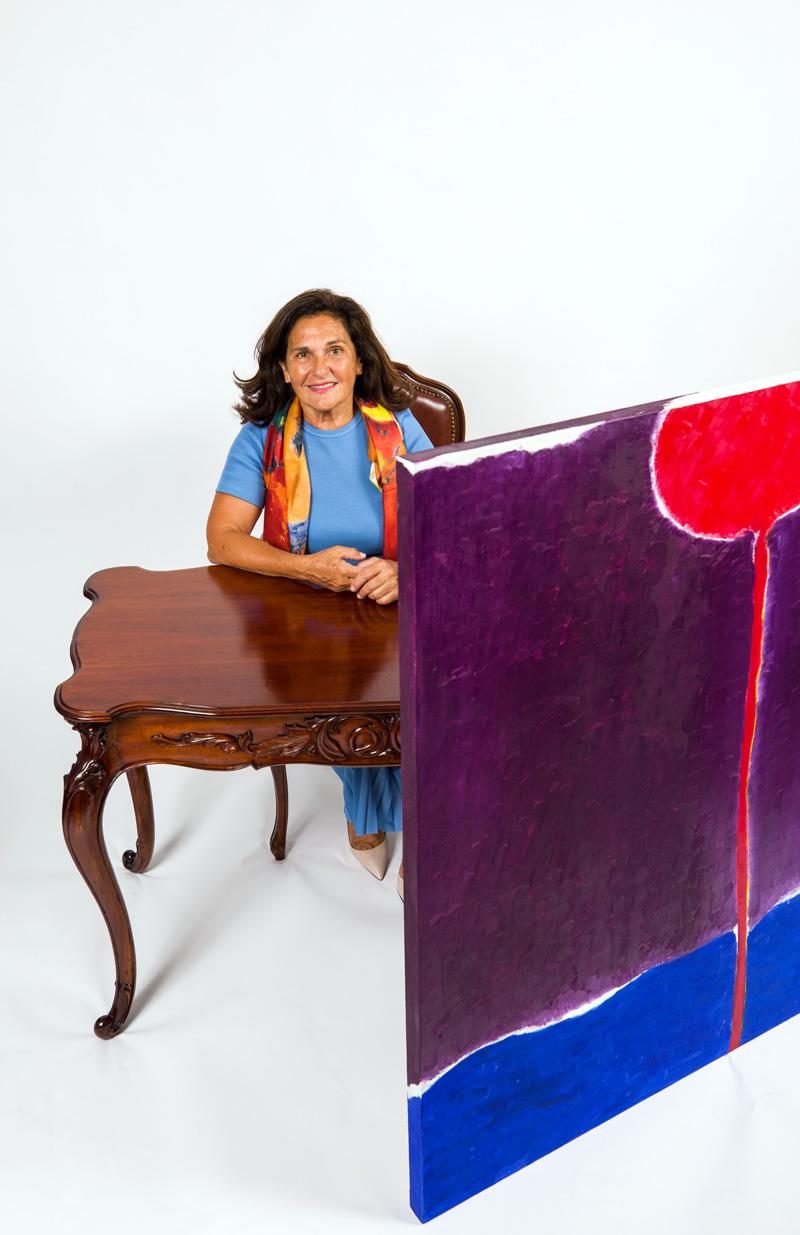 Maryse Casol art studio, Corolle de Lumière painting, 2012, August 7, 2021 photoshoot with Denis Boisvert