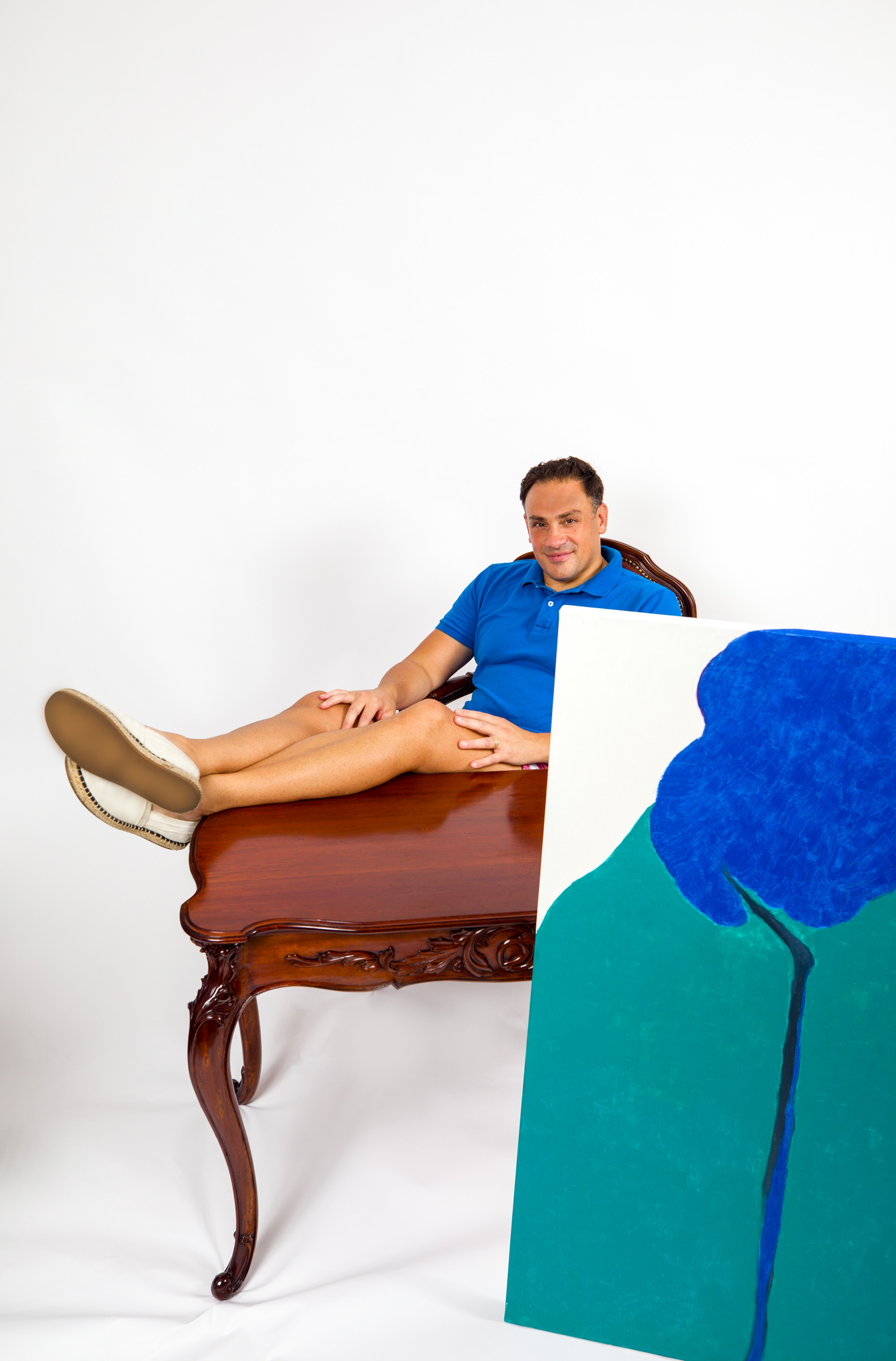 Mickaël Casol, feet on desk, August 2021 by Denis Boisvert
