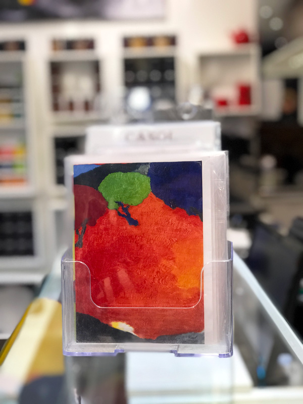 Maryse Casol notecard in store Oasis de Lumière
