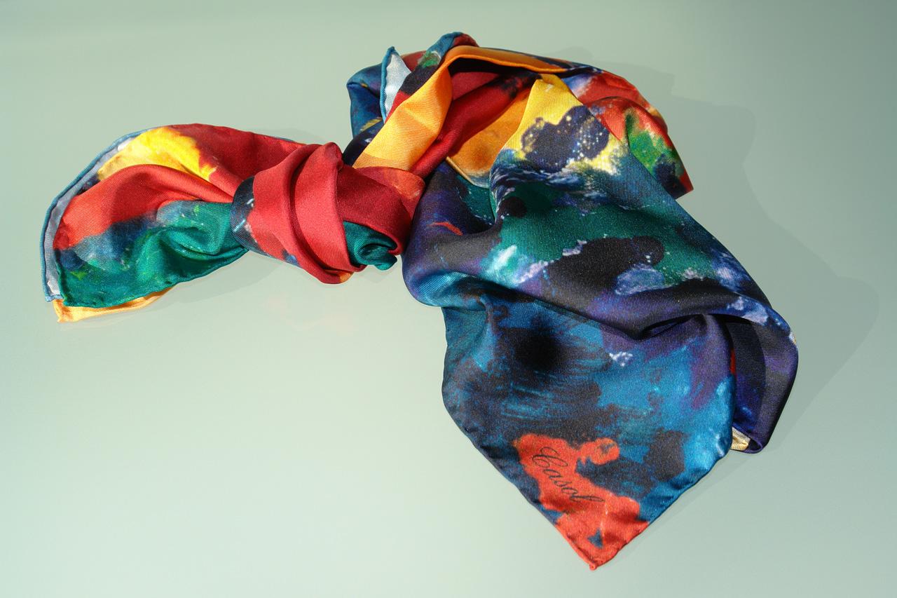 Maryse Casol silk scarf Été Indien