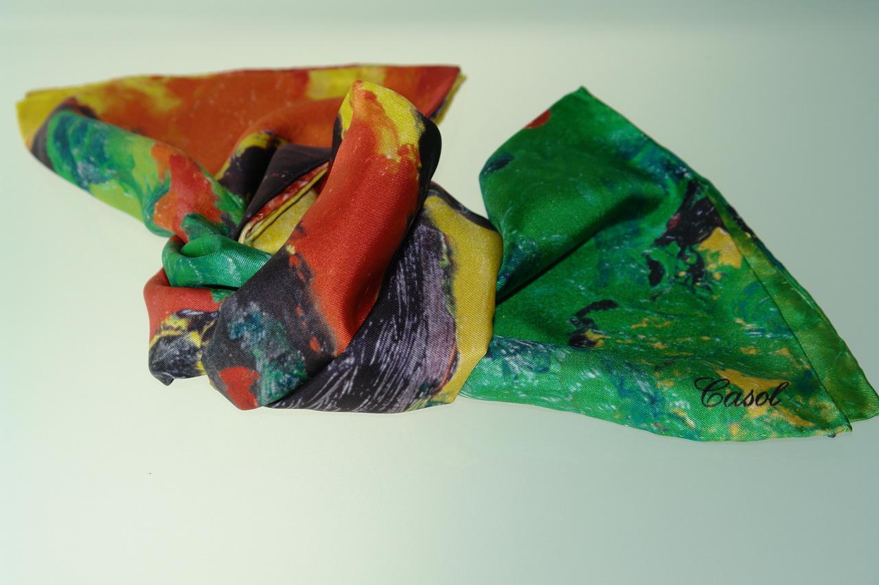 Maryse Casol silk scarf Fado Romantique