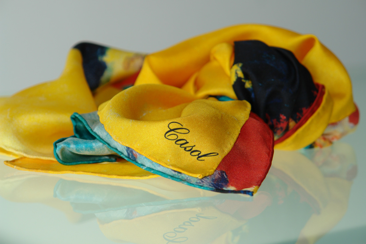 Maryse Casol silk scarf Melodia Gitana